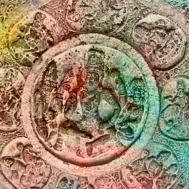 D'après Vishnu et les dikpâla, les huit gardiens de l'Espace,bas-reliefs, période Çâlukya, VIe-VIIIe siècle apjc, Bâdâmi, Dekkan, Inde ancienne. (Marsailly/Blogostelle)