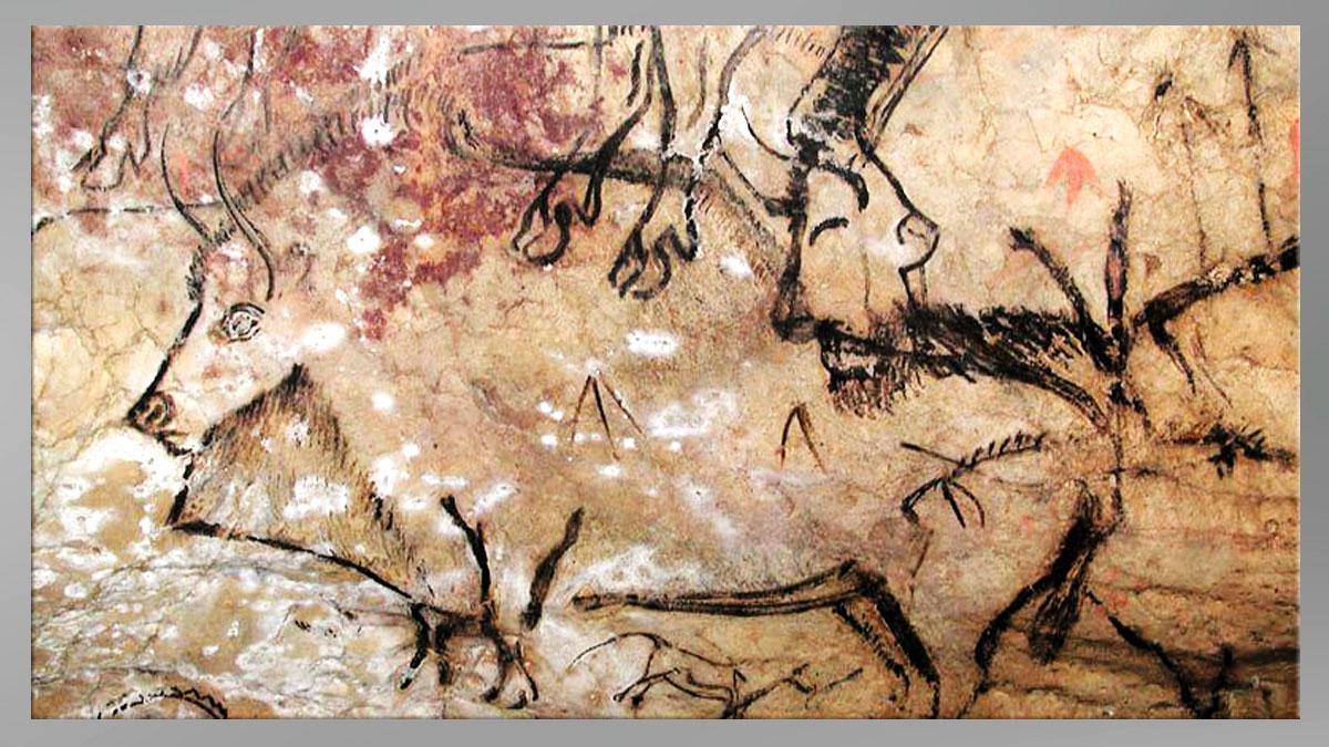 D'après l'art paléolithique, thème de la chasse. (Marsailly/Blogostelle)