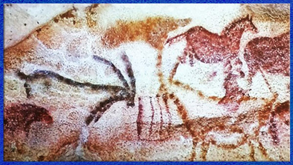 D'après l'art paléolithique des chasseurs nomades, la préhistoire. (Marsailly/Blogostelle)