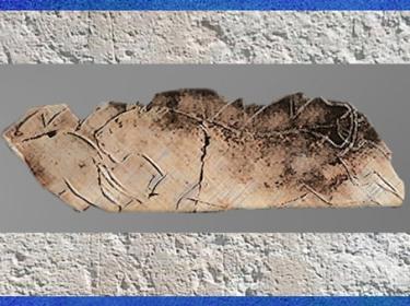 D'après La frise des lions, gravure sur os, grotte de La Vache, vers 11 000 avjc, magdalénien, France, paléolithique supérieur. (Marsailly/Blogostelle)