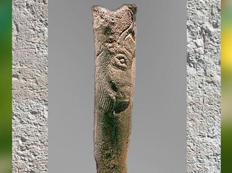 D'après un bâton, bison gravé, Isturitz, magdalénien, 18000-10000 avjc, Pyrénées, France, paléolithique supérieur. (Marsailly/Blogostelle)