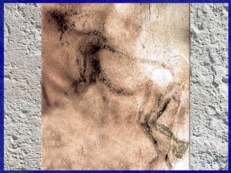 D'après une figure étrange, grotte des Trois-Frères, peinture, Magdalénien, Ariège, France, paléolithique. (Marsailly/Blogostelle)