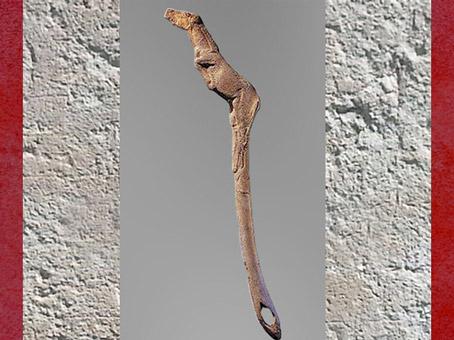 D'après un propulseur, cheval, bois de renne, vers 12000 avjc, Bruniquel, Tarn-et-Garonne, magdalénien, France, paléolithique supérieur. (Marsailly/Blogostelle)