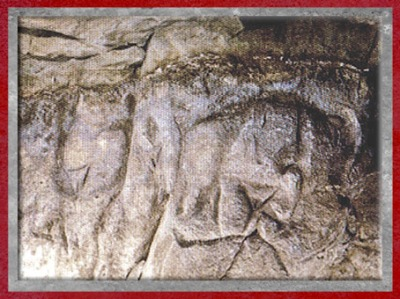 D'après des représentations féminines, relief, Roc-aux-Sorciers, Vienne, Magdalénien, France, paléolithique supérieur. (Marsailly/Blogostelle)