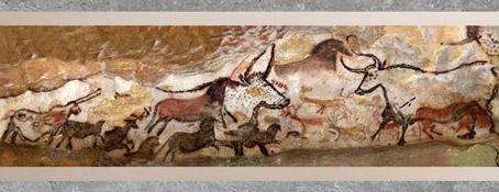D'après les peintures des grottes de Lascaux, vers 18 000 avjc, art magdalénien, Dordogne, France, paléolithique supérieur. (Marsailly/Blogostelle)