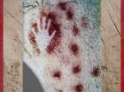 D'après une main traitée en négatif, Pech-Merle, Lot, gravettien vers 25 000 ans avjc, France, paléolithique. (Marsailly/Blogostelle)