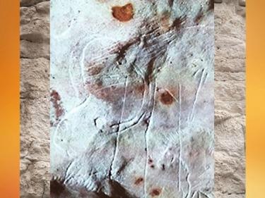 D'après des gravures, grotte du Gabillou, vers 25000 ans avjc, gravettien, Sourzac, Dordogne, France, paléolithique supérieur. (Marsailly/Blogostelle)