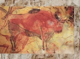 D'après un grand bison, grotte d'Altamira, solutréen et magdalénien, Espagne. (Marsailly/Blogostelle.)