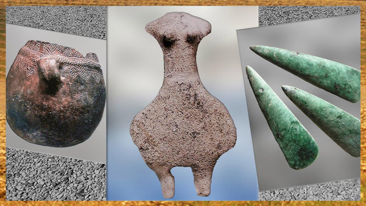 D'après l'art néolithique, civilisation de la pierre polie. (Marsailly/Blogostelle)