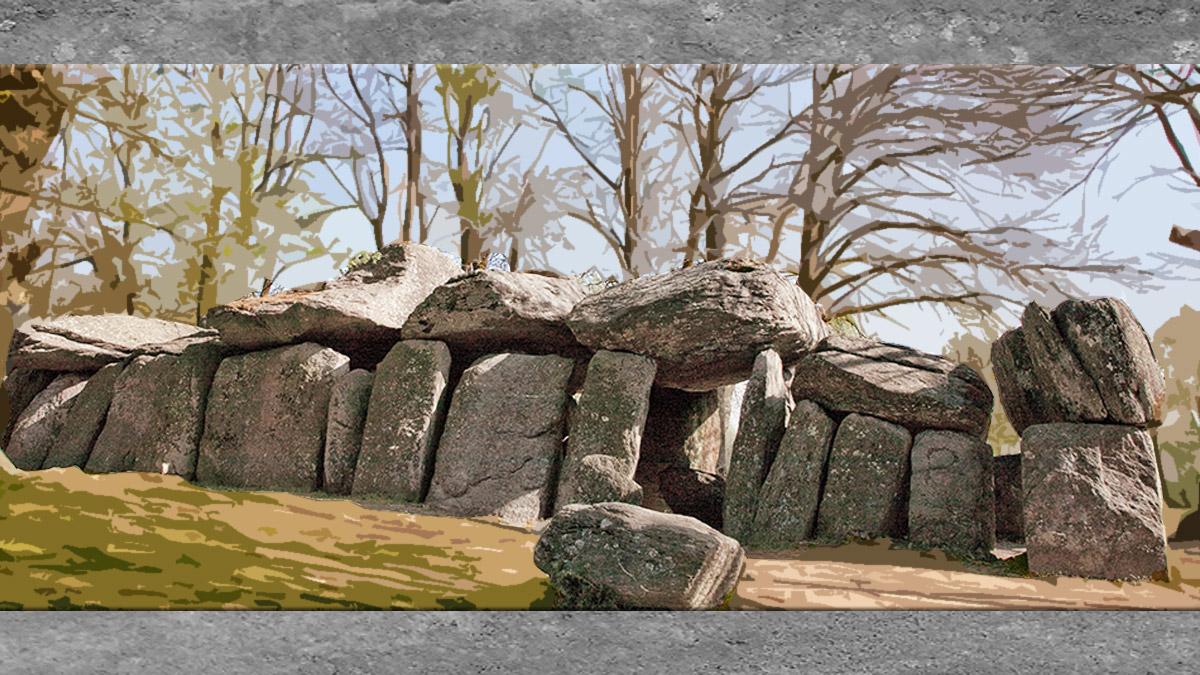 D'après l'art néolithique, les mégalithes. (Marsailly/Blogostelle)
