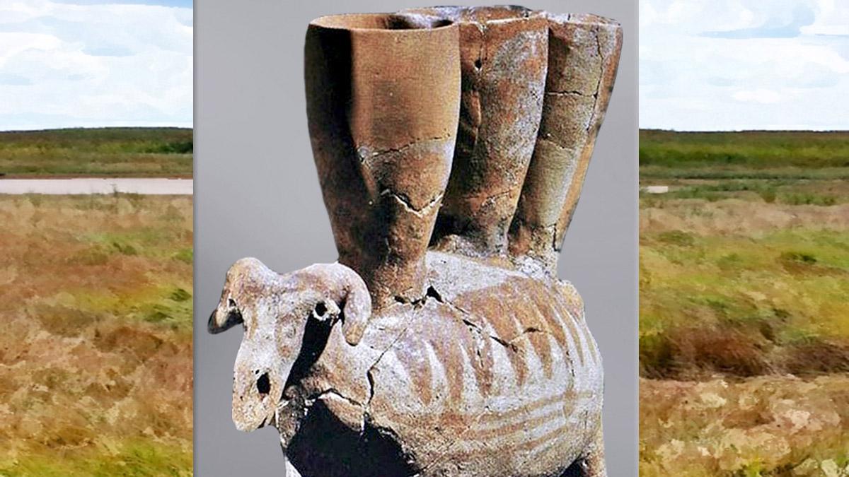 D'après l'art néolithique, premiers villages et terres cuites. (Marsailly/Blogostelle)