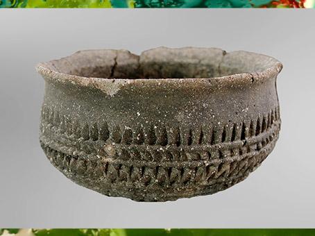 D'après une jatte, céramique, décor style Videlles, nécropole de Migennes, Yonne, France, Bronze final. (Marsailly/Blogostelle)