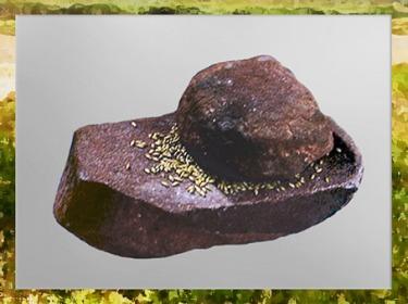 D'après une meule en pierre pour écraser le grain, néolithique. (Marsailly/Blogostelle)