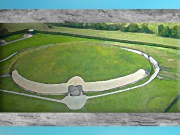 D'après l'immense tumulus de Newgrange, Irlande,période Néolithique. (Marsailly/Blogostelle)
