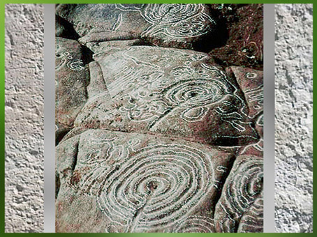 D'après des labyrinthes, gravures galiciennes,, Pontevedra, Espagne, âge du Bronze. (Marsailly/Blogostelle)
