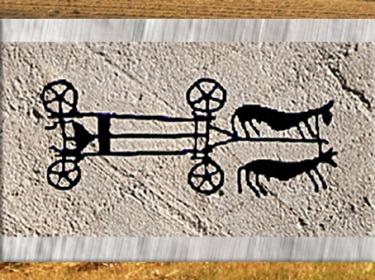 D'après un attelage de bovidé, décor de céramique, Drôme, France, néolithique. (Marsailly/Blogostelle)