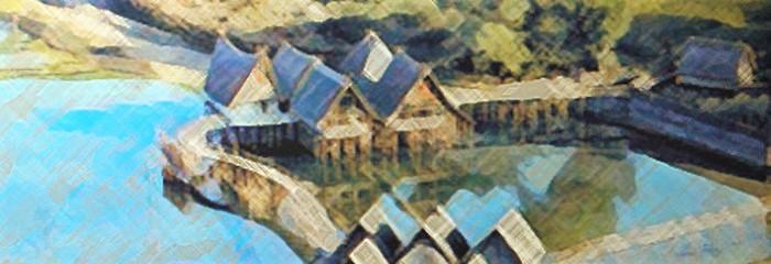 Art Néolithique, villages, sépultures collectives etenceintes