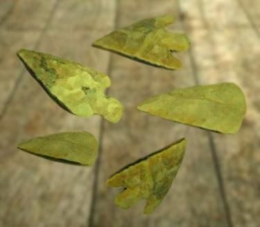 D'après des pointes de flèches, silex taillé, culture campaniforme, vers 2200 ans avjc-1200 avjc, âge du Bronze. (Marsailly/Blogostelle)