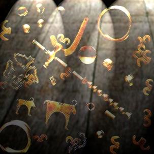 D'après un mobilier funéraire en or, nécropole de Varna, Bulgarie, âge du Bronze. (Marsailly/Blogostelle