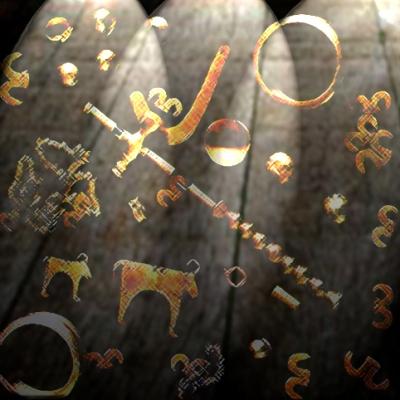 D'après la nécropole de Varna, objets en or et feuille d'or, Bulgarie, âge du Bronze. (Marsailly/Blogostelle