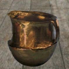 D'après un gobelet caréné, en or, entre 1900 ans avjc et 750 ans avjc environ, âge du Bronze. (Marsailly/Blogostelle)