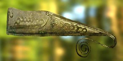 D'après un rasoir nordique, bronze, gravé d'un bateau, Allemagne, âge du Bronze. (Marsailly/Blogostelle)