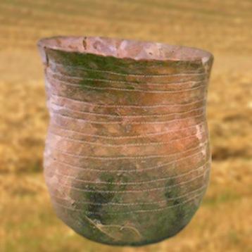 D'après un vase, terre cuite, culture campaniforme, vers 2200 ans avjc-1200 avjc, âge du Bronze. (Marsailly/Blogostelle)