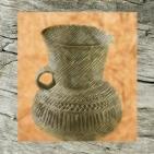 D'après un vase de Videlles, terre cuite, décor excisé, Essonne, France, âge du Bronze. (Marsailly/Blogostelle)