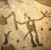 D'après un guerrier, art rupestre, âge du Bronze, Suède. (Marsailly/Blogostelle.)