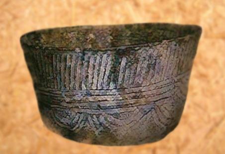 D'après une céramique, à motifs de cannelures, culture de Fontbouisse, IIIe-IIe millénaires avjc, France, chalcolithique-âge du Bronze. (Marsailly/Blogostelle)
