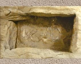 D'après une tombe d'enfant, sous tumulus, âge du Bronze. (Marsailly/Blogostelle)