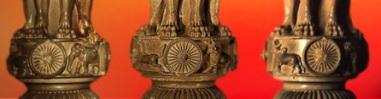 D'après le chapiteau de Sârnâth, roues, IIIe siècle avjc, Bihar, Nord, style Maurya, Inde ancienne. (Marsailly/Blogostelle)