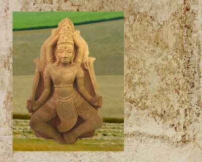 D'après une image supposée du dieu védique Aryaman, dieu tutélaire des tribus Ârya, Inde ancienne. (Marsailly/Blogostelle)