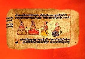 D'après des images du Rig-Veda,ouvrage sacré védique, hymnes et prières, XIXe siècle apjc, Inde ancienne. (Marsailly/Blogostelle)