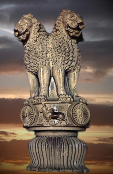 D'après le chapiteau de la colonne d'Açoka de Sârnâth, art Maurya, IIIe siècle avjc, Bihar, Inde du Nord. (Marsailly/Blogostelle)