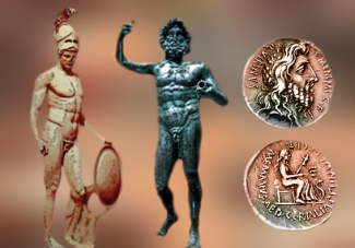 D'après l'ancestral trio divin romain : Jupiter, le dieu souverain du panthéon de Rome, Mars dieu de la guerre, et Quirinus associé aux travaux agraires et à l'abondance des récoltes, art Romain. (Marsailly/Blogostelle)