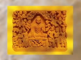 D'après l'Illumination du Buddha, Gandhara, époque Kushâna, fin IIe siècle apjc, Inde du Nord. (Marsailly/Blogostelle.)