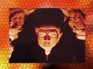 D'après le prêche du Buddha, sculpture, Ve siècle apjc, Ajanta, Inde Ancienne. (Marsailly/Blogostelle)