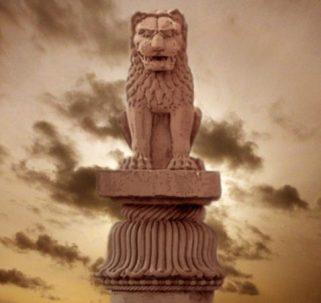 D'après le chapiteau de Vaisâlî, IIIe siècle avjc, Bihar, Nord, style Maurya, Inde ancienne. (Marsailly/Blogostelle)