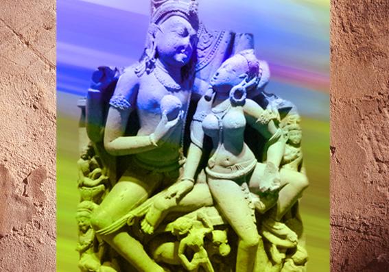 D'après le dieu hindou Shiva etPârvatî, et son épouse et sa shakti, IXe-Xe siècle, Uttar Pradesh, période médiévale, Inde ancienne. (Marsailly/Blogostelle)
