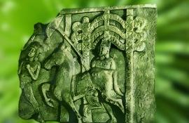 D'après la scène du Grand Départ, Ier siècle avjc, stûpa d'Amaravatî, Inde du Sud. (Marsailly/Blogostelle.)