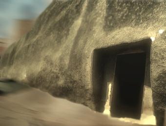 D'après l'entrée de la caverne la Sudama, mont Barâbar, Nord,époque Maurya, Inde ancienne. (Marsailly/Blogostelle)