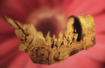 D'après un char en terre cuite, Harappa, vers 2500-1800 avjc, civilisation de l'Indus, Inde ancienne. (Marsailly/Blogostelle)