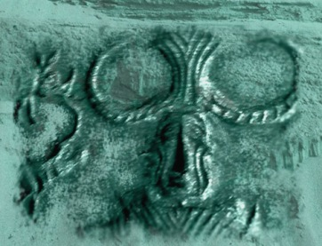 D'après un sceau au Yogi, Mohenjo-Daro, civilisation de l'Indus, vers 2500-1800 avjc. (Marsailly/Blogostelle.)