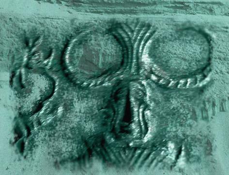 D'après un sceau au Yogi, Mohenjo-Daro, vers 2500-1800 avjc, civilisation de l'Indus. (Marsailly/Blogostelle)