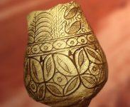 D'après une grande poterie, motifs peints, vers 2500-2300 avjc, civilisation de l'Indus, Inde ancienne. (Marsailly/Blogostelle)