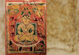 D'après Mahâvîra, surune page du Kalpasutra, livre sacré jaïn, manuscrit du XVe siècle apjc, Inde Ancienne. (Marsailly/Blogostelle)