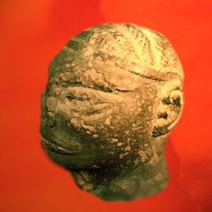 D'après une tête d'homme sculptée, albâtre, Harappa, vers 2300 - 1800 avjc, civilisation de l'Indus. (Marsailly/Blogostelle)