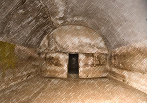 D'après la caverne voûtée la Sudama, mont Barâbar, Nord,époque Maurya, Inde ancienne. (Marsailly/Blogostelle)