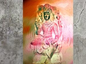 D'après le thème de Prajâpati, principe créateur,cosmogonie de l'Inde ancienne. (Marsailly/Blogostelle)